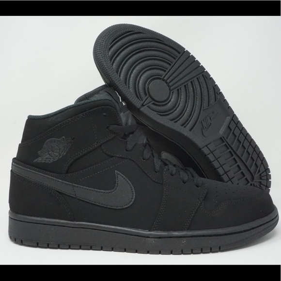 Jordan Retro Nubuck Nike Black Air 1 Mid Nwt kuPXZOiT